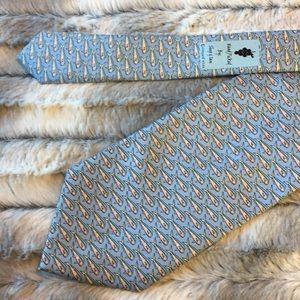 Vineyard Vines Accessories - Vineyard Vines silk tie - blue w/fish print